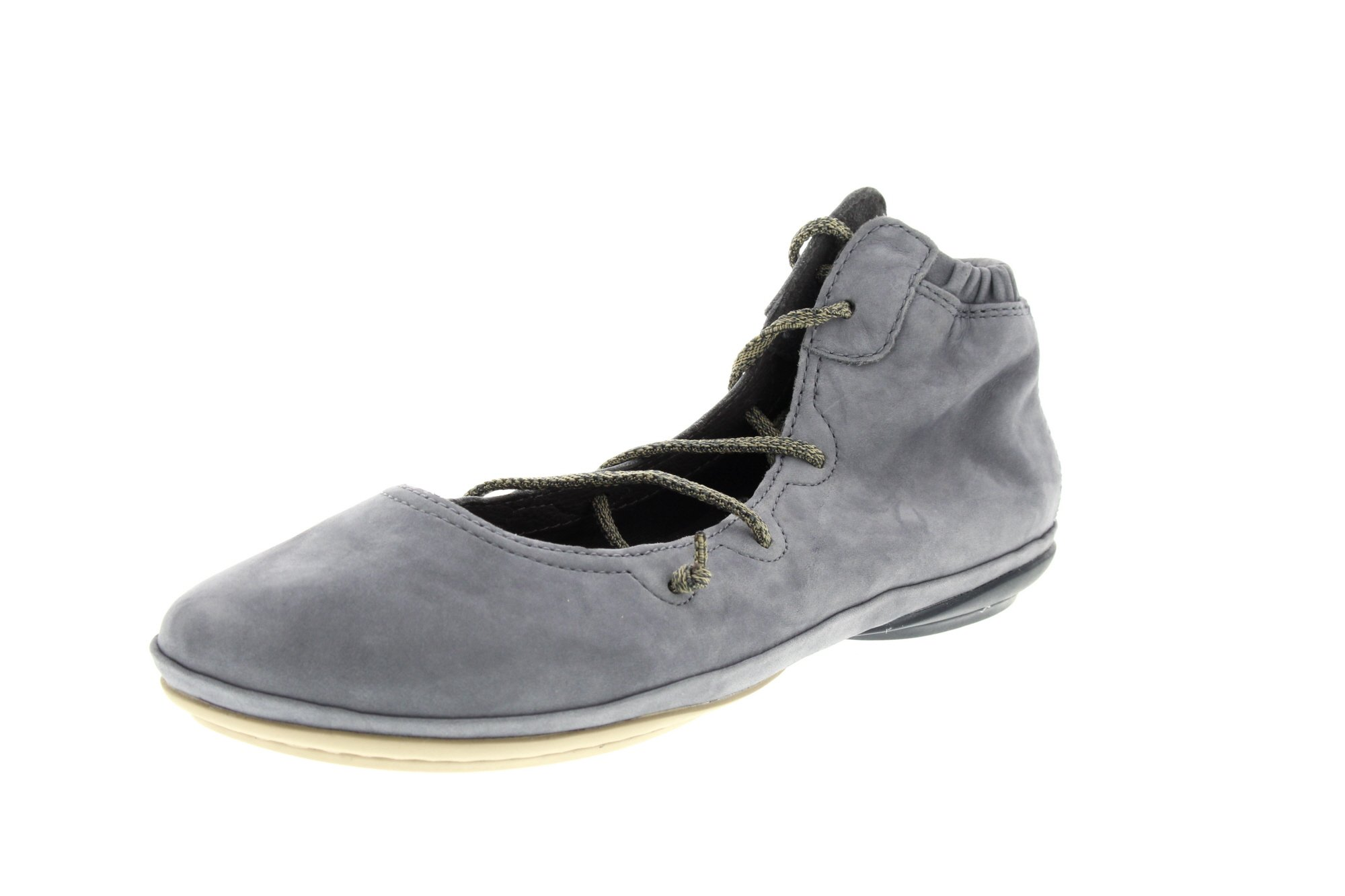 Camper Women's Right Nina K400194 Mary Jane Flat, Grey, 39 M EU (9 US)