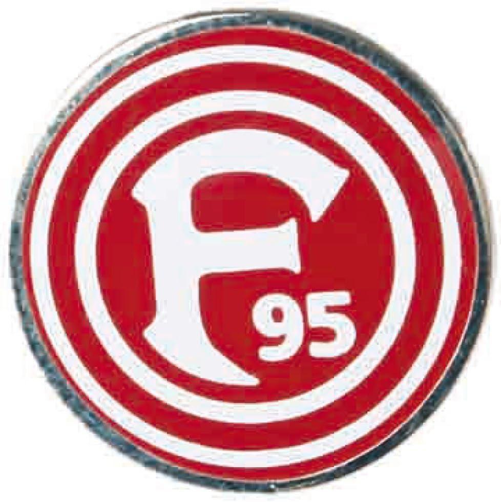 Pin Fortuna D/üsseldorf Logo gratis Aufkleber Flaggenfritze/® 1.5 x 1.5 cm