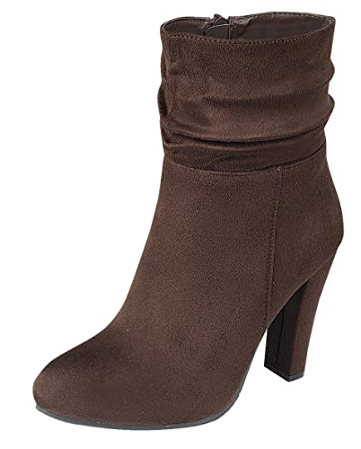Women's Strappy Round Toe Chunky Wrapped Heel Ankle Bootie