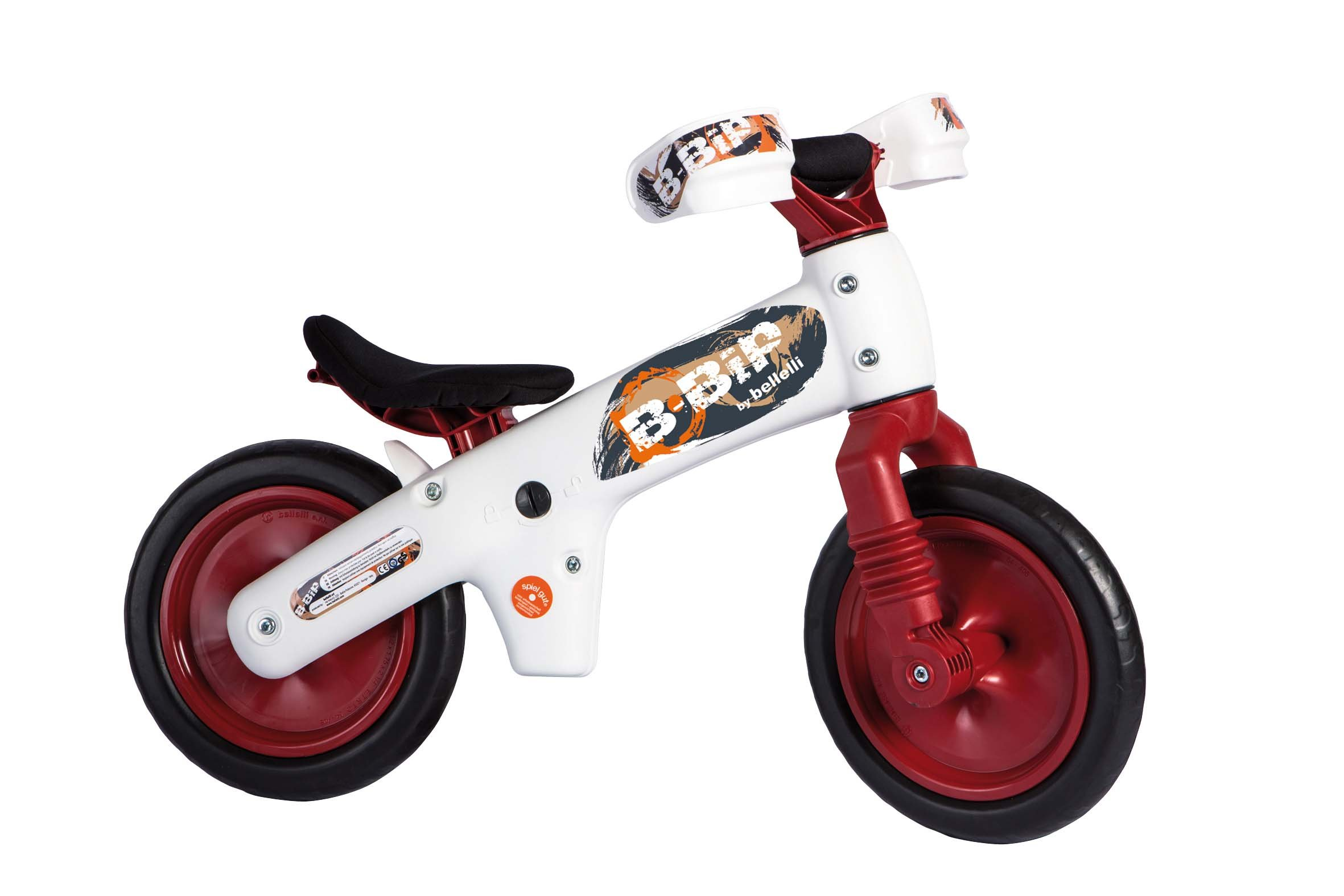 Bellelli Balance Bike with Adjustable Seat - for Ages 2 to 5 years (Red)