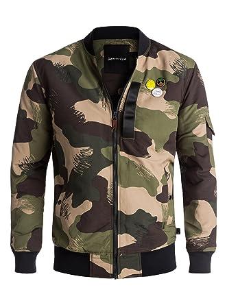 Long Trestles Quiksilver Pour Veste Eqyjk03359 Bomber Homme Army wI4qCgB
