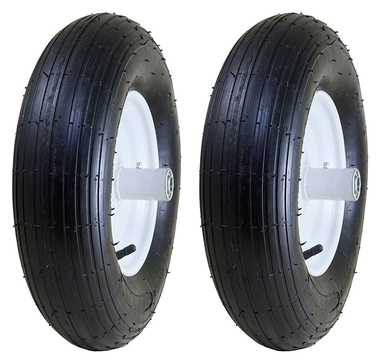 Marathon 4.80/4.00-8'' Pneumatic (Air Filled) Tire on Wheel, 6'' Hub, 5/8'' Bearings, Ribbed Tread (Pack of 2) by Marathon Industries