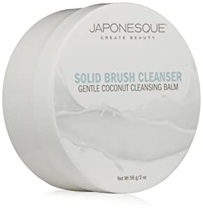 JAPONESQUE Solid Brush Cleanser, Coconut, 2 oz