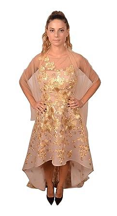 Il miglior posto pacchetto alla moda e attraente consegna veloce ALLURE Abito Elegante Donna Cerimonia Color Nudo Più Lungo ...