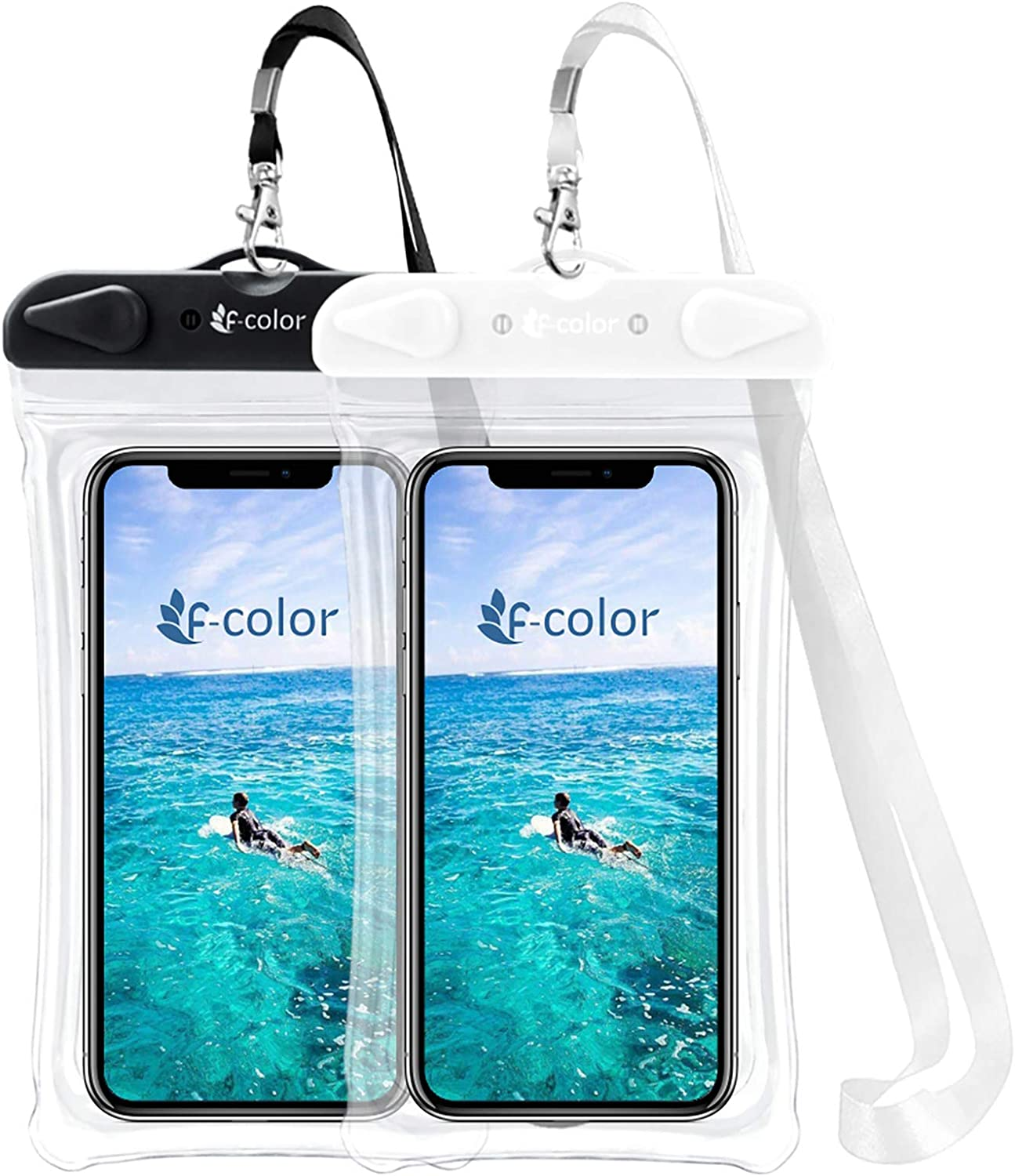 4 Pack Compatible with iPhone Xs Max XR 8 7 6S Plus Galaxy S8 S7 Edge S6 Up to 7 inch Universal Waterproof Case PVC Dry Bag for Swimming Boating Skiing Rafting F-color Waterproof Phone Pouch