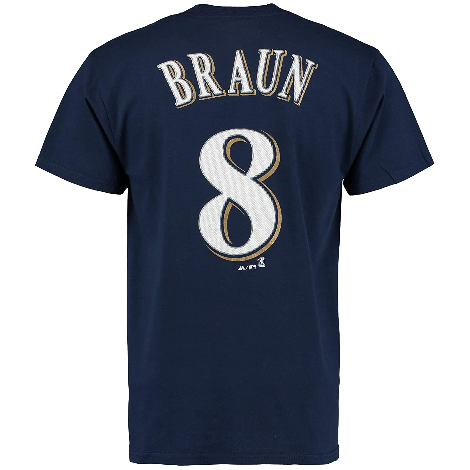 Outerstuff Ryan Braun Milwaukee Brewers #8 Navy Youth Name and Number T-Shirt