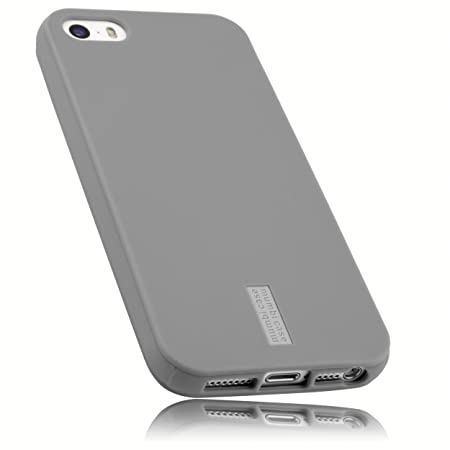mumbi Schutzhülle für iPhone 5 5S SE Hülle hell grau