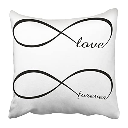 Amazon emvency decorative throw pillow covers cases blue sign emvency decorative throw pillow covers cases blue sign infinity love forever symbol colorful endless mobius abstract altavistaventures Images