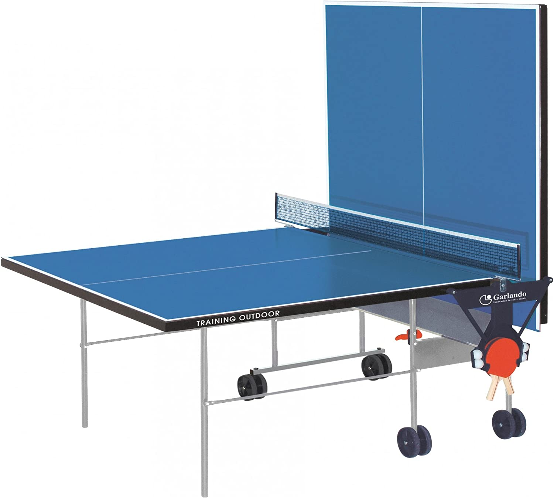 Garlando Mesa Ping Pong Training Outdoor con Ruote per Esterno ...