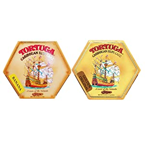 Tortuga Caribbean Rum Cake 4 oz Banana & Original Flavor (2 Pack)- Perfect Gourmet Gift for the Holidays