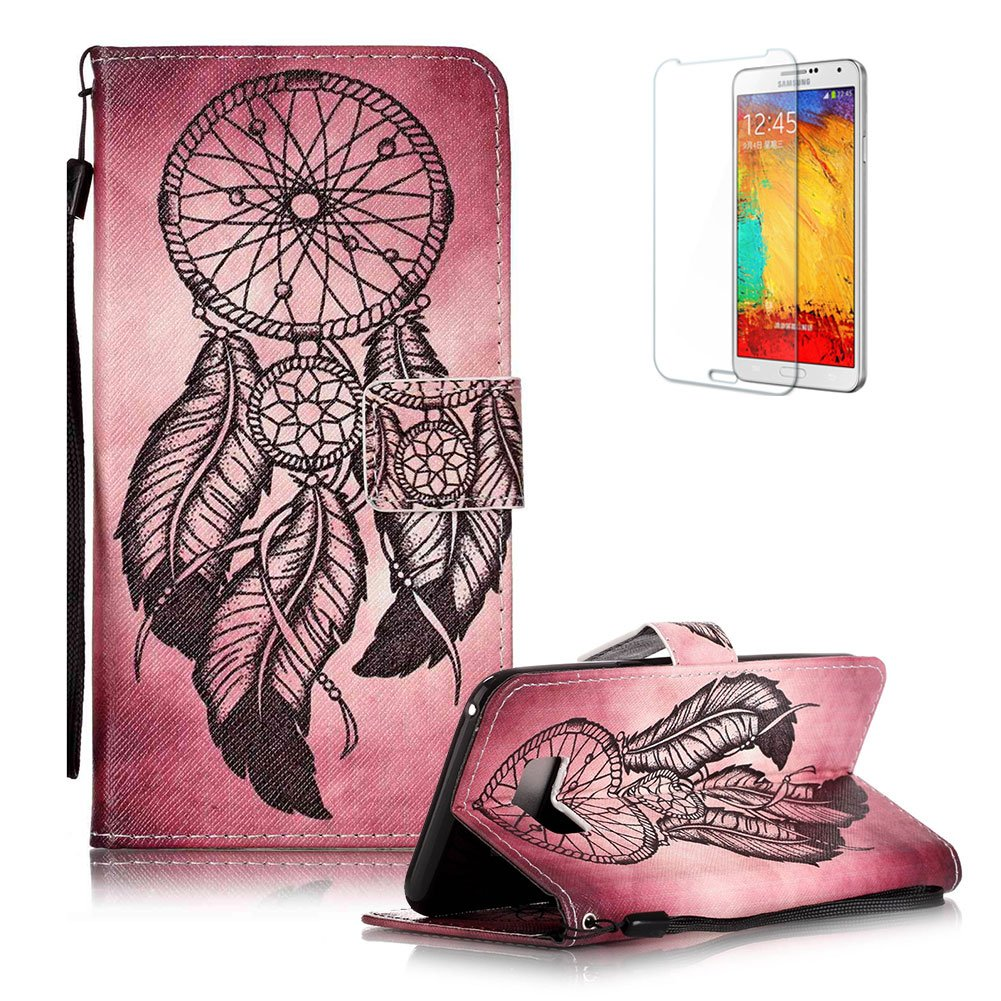 For Samsung Galaxy S8 Case [with Free Screen Protector], Funyye Stylish Vintage Pattern Magnetic PU Leather Wallet Case with [Lanyard Strap] and [Credit Card Holders Slots] Protection Case for Samsung Galaxy S8 -Retro flower FUNYYE0018702