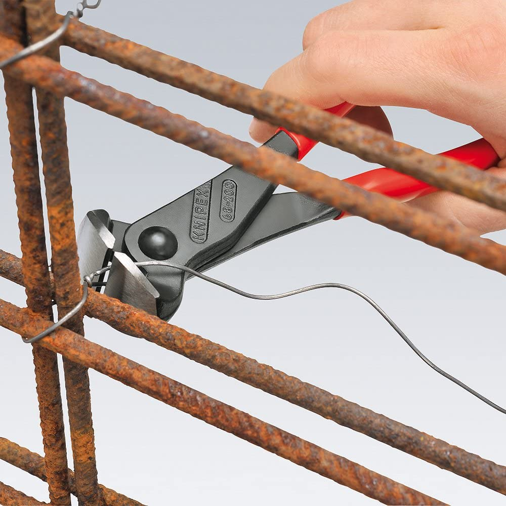 KNIPEX 68 01 200 EAN Pince coupante de devant noire atramentis/ée gain/ées en plastique 200 mm