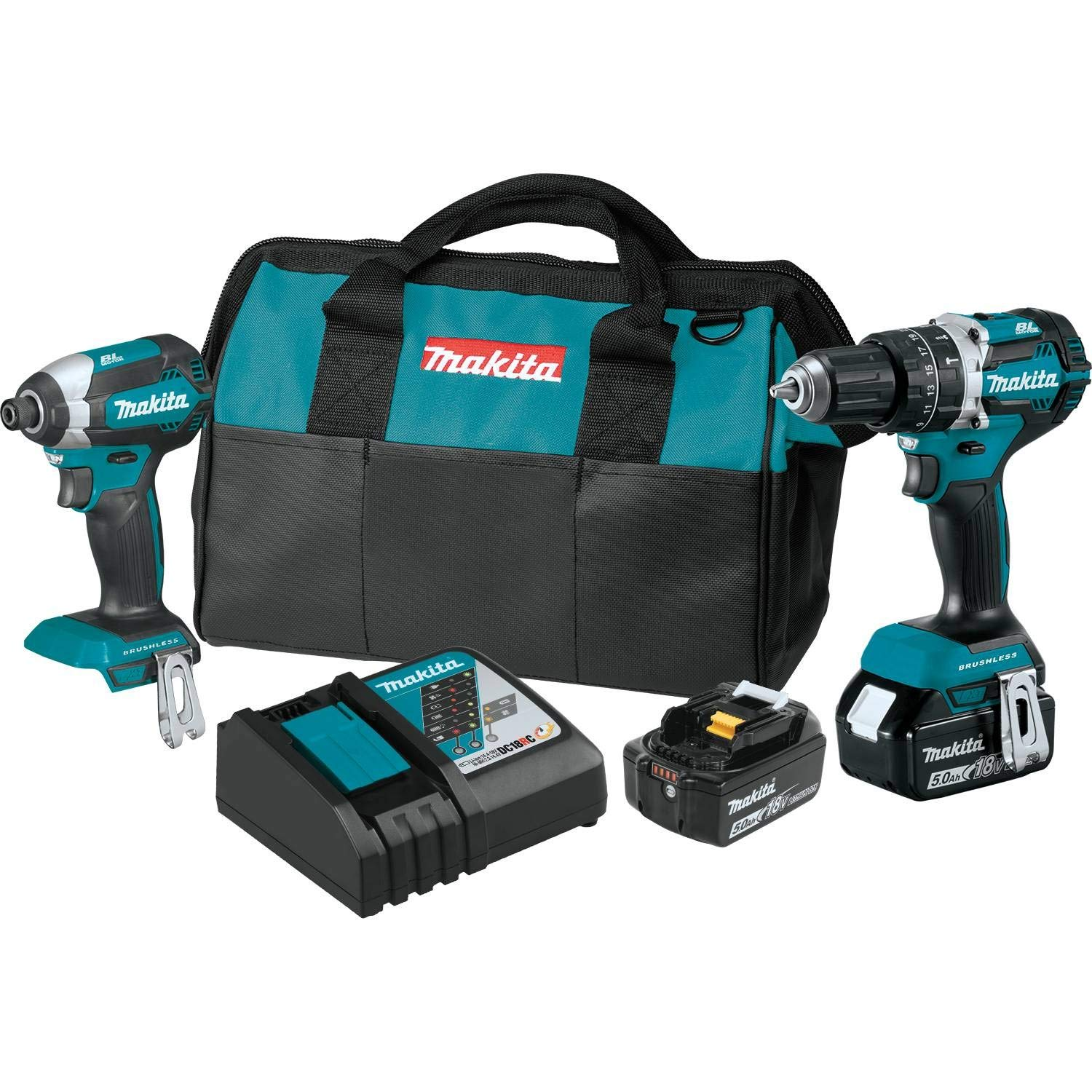 Makita XT269T 18V LXT Lithium-Ion Brushless Cordless 2-Pc. Combo Kit 5.0Ah