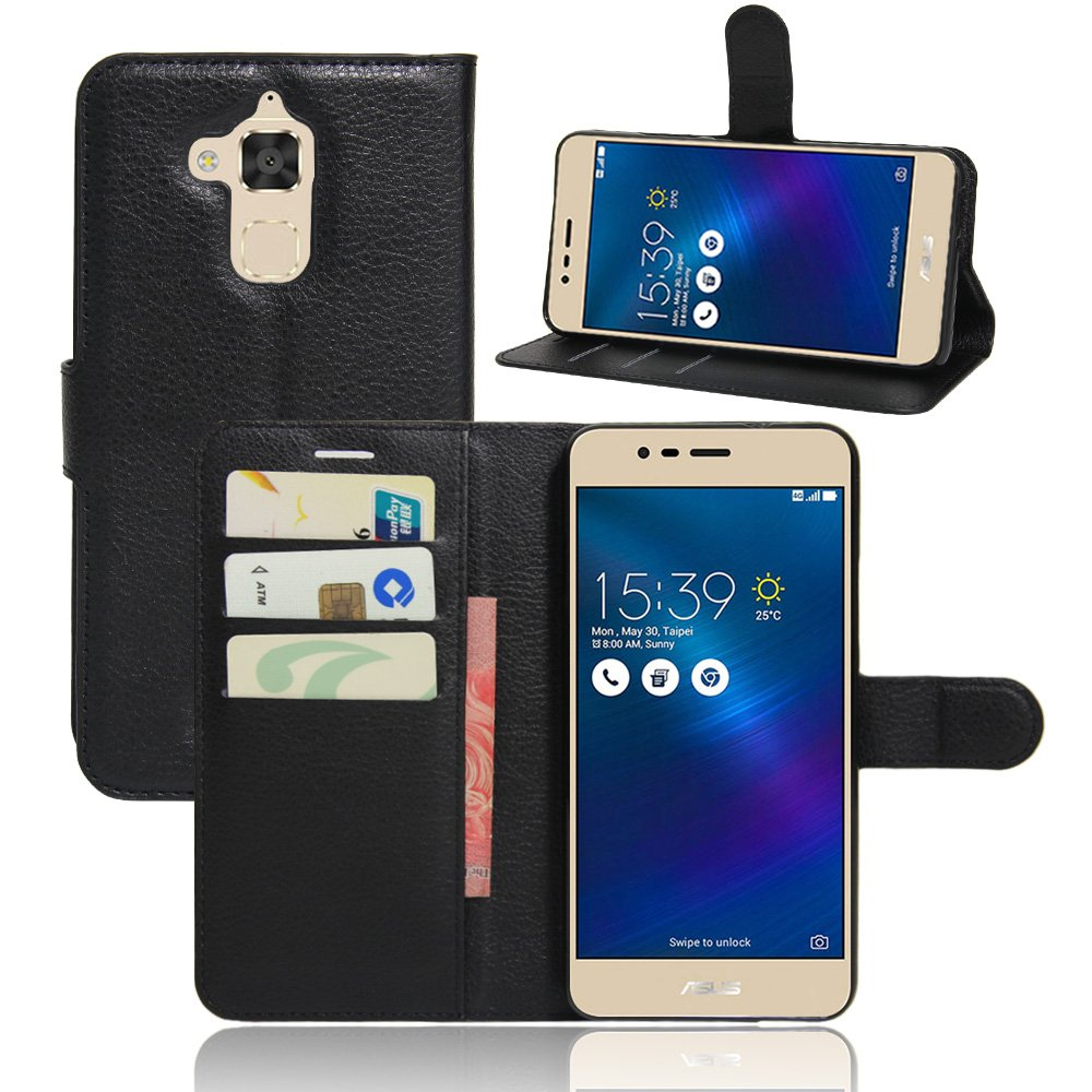super popular cc877 80f1e Zenfone 3 Max Case,Zenfone 3 Max Leather Case,OPDENK Synthetic Leather  [Wallet] Pouch case [Card slots] Book Cover Stand Case Magnetic Flip Case  Cover ...