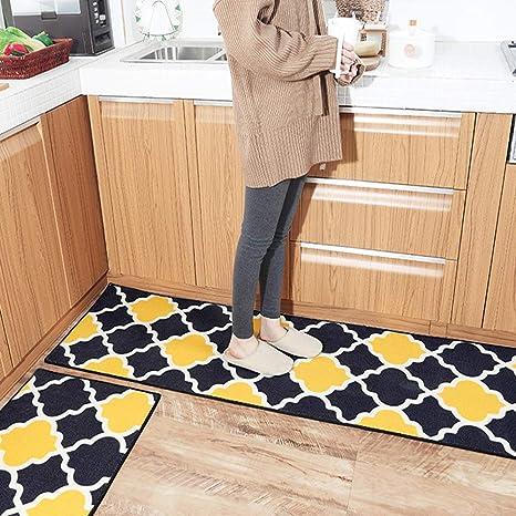 non slip kitchen rugs memory foam hebe kitchen rugs set piece non slip and mats sets runner rug amazoncom