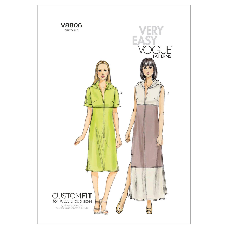 Vogue Patterns V8806 - Patrones de costura para vestidos de mujer ...