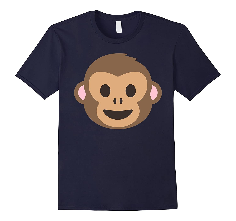 Laughing Monkey Emoji Face T-Shirt-ANZ