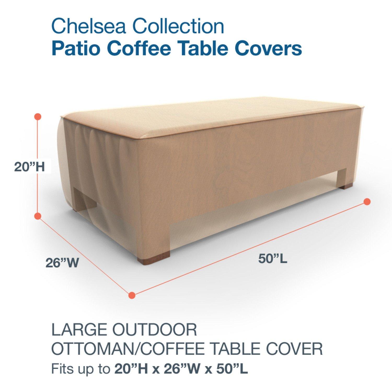 Amazon.com : Budge Chelsea Patio Ottoman Cover / Coffee Table Cover ...