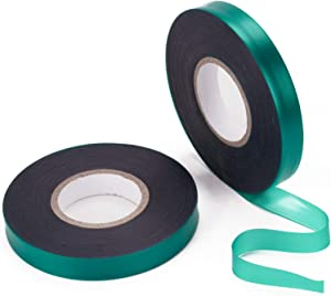 feitengda 2 Rolls 147 Feet Stretch Tie Tape, Garden Tie Tape PVC Reusable Plant Ties Tapes Plant Ribbon Vinyl for Indoor Outdoor Patio Plant Use…