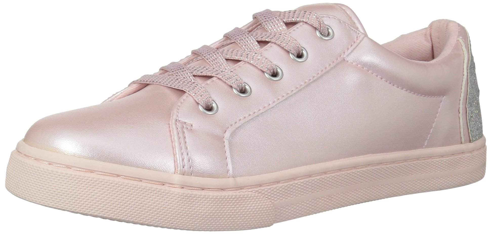 The Children's Place Girls' BG Emoji Sneaker, Pink, Youth 4 Medium US Big Kid