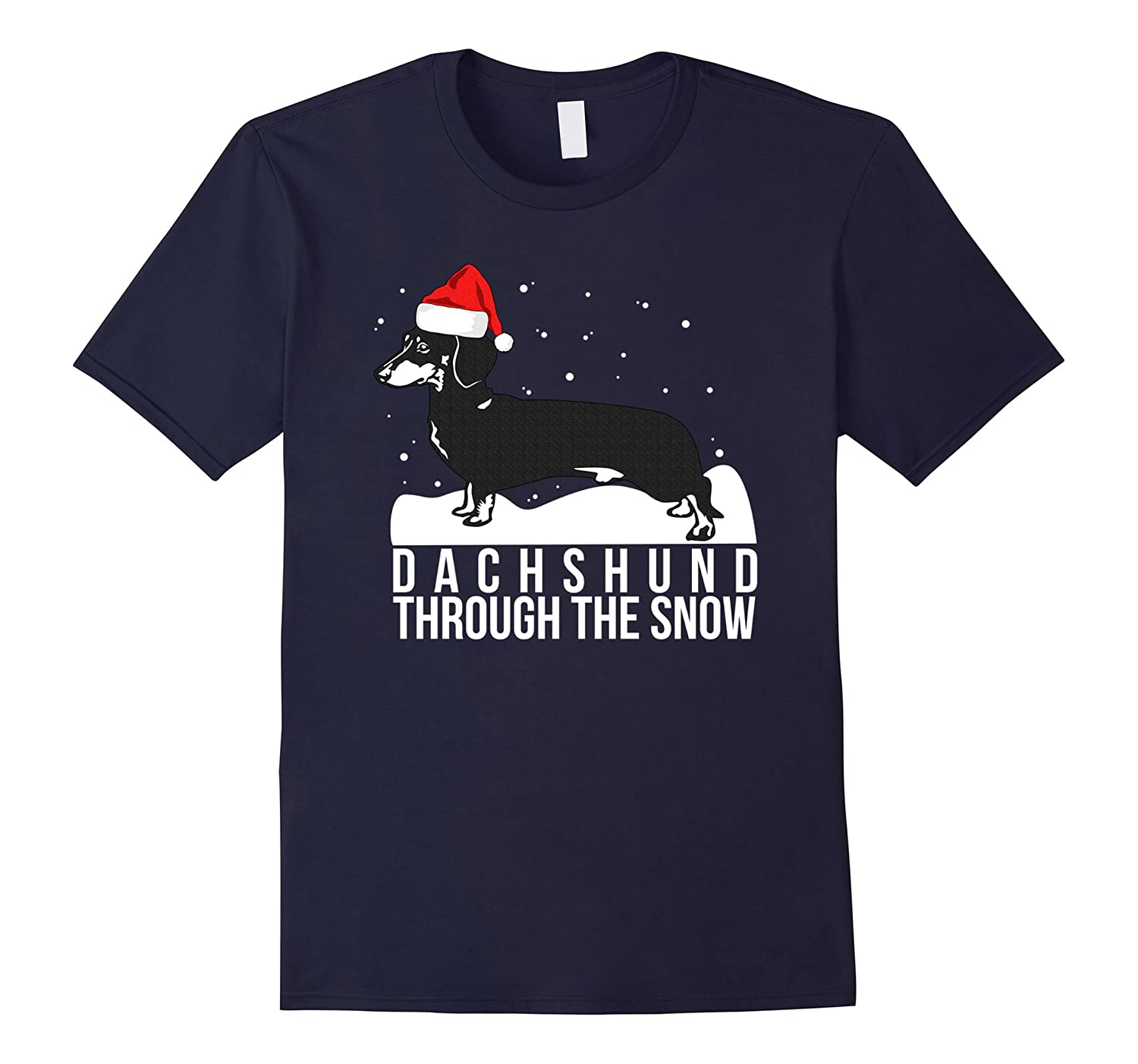91709e778 Funny Weiner Dog Christmas T-shirt Dog Lovers Tee-ANZ ⋆ Anztshirt