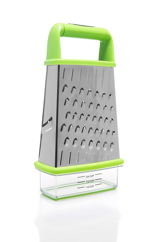 tapa y l/íneas de medida Rallador Home Icon con recipiente integrado