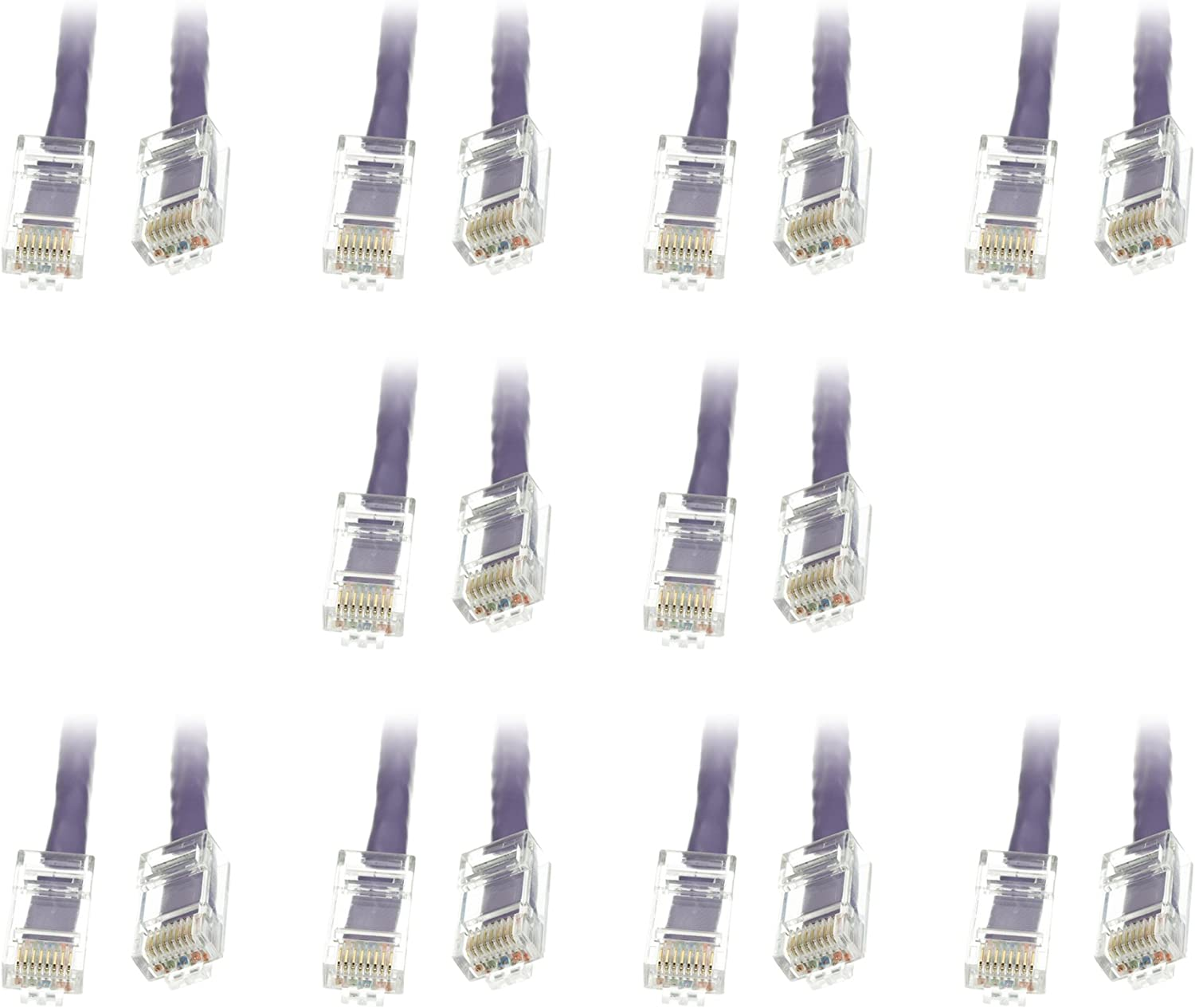 CNE478796 White 50 Feet Cat6 Ethernet Patch Cable 3 pack Bootless