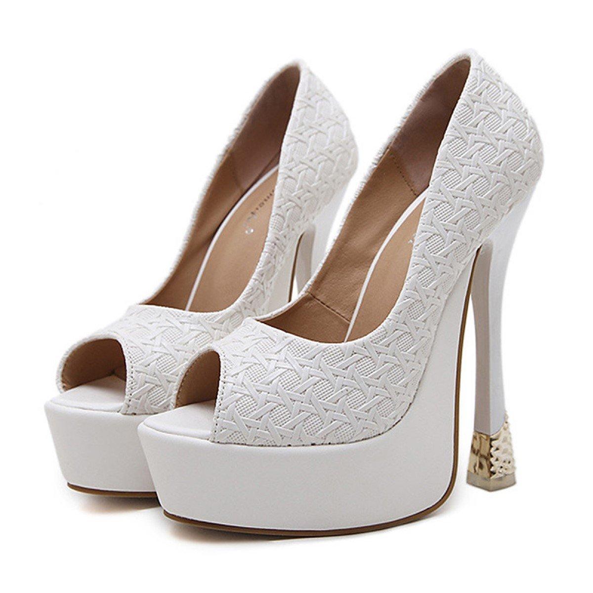 DIMAOL Damenschuhe Kunstleder Frühling Herbst Komfort Neuheit Mode Stiefel Stiefel Heels Stiletto-Absatz für Hochzeit Schwarz Weiß