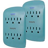 Philips SPP3462TL/37 - Extensor de salida (6 unidades, 900 julios, 3 puntas, diseño de ahorro de espacio, indicador de…
