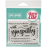 Avery Elle Clear Stamp Set 4-Inch x 3-Inch with Sympathy, Acrylic, Multicoloured, 2-Piece