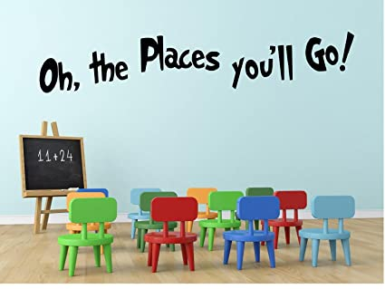 Oh the Places Youu0027ll Go Dr. Seuss Decal -Wall Decal-36u0026quot  sc 1 st  Amazon.com & Amazon.com: Oh the Places Youu0027ll Go Dr. Seuss Decal -Wall Decal-36 ...