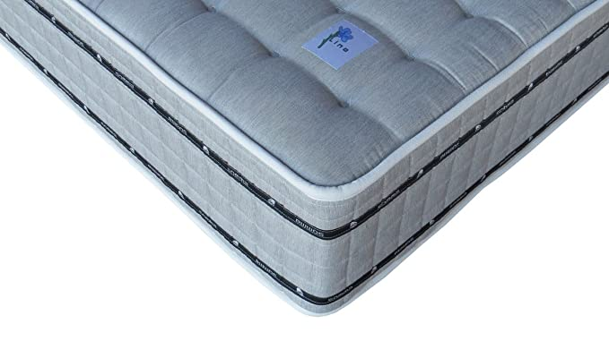 SOMMA CONFORT - Colchón Muelles ensacados Lino y Lana Mohair Premium 180/200 Firme: Amazon.es: Hogar