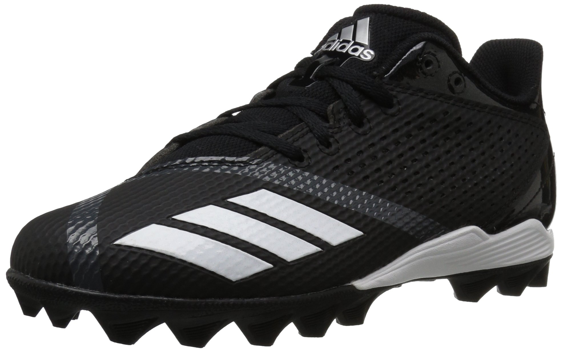 adidas Unisex 5-Star md Football Shoe, Black/White/Night Metallic, 6 M US Big Kid