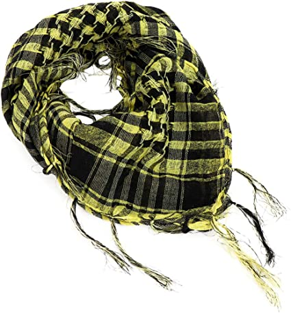 YONKINY Pañuelo Cuello Shemagh Algodón Moda Unisex árabe Bufanda ...