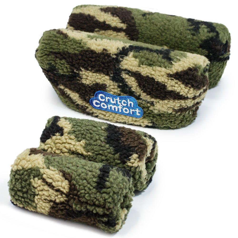 Crutch Comfort Deluxe Soft Fleece & Foam Crutch Accessory Set (Camo)