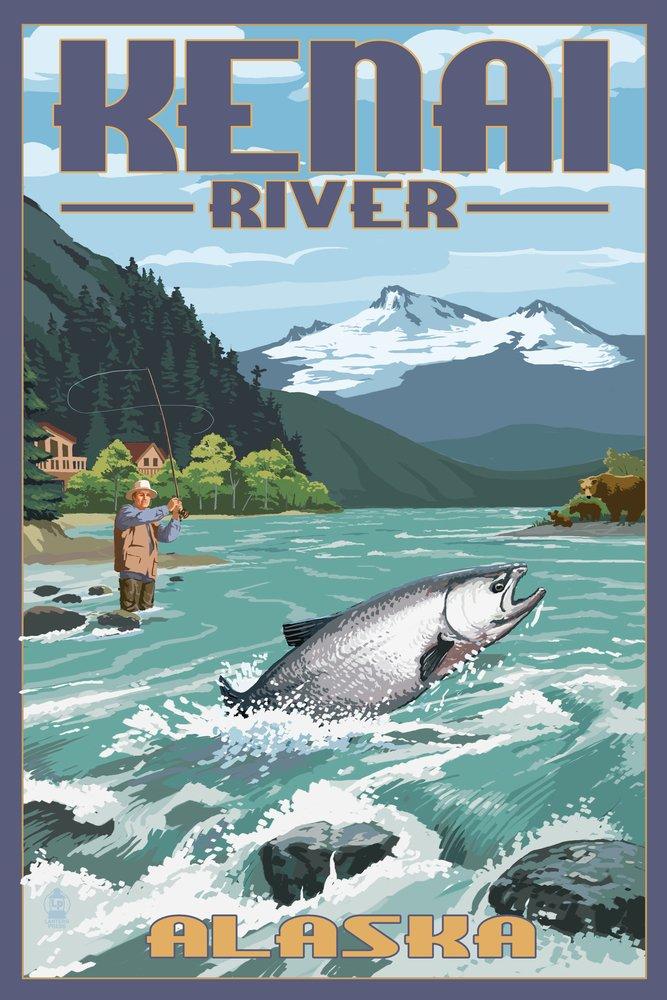 売り切れ必至! Kenai川、アラスカ – Print Salmon Fisherman 12 x x Print 18 Metal Sign LANT-41011-12x18M B00N5CCII2 9 x 12 Art Print 9 x 12 Art Print, ark-interior-shop:b2b59939 --- arianechie.dominiotemporario.com