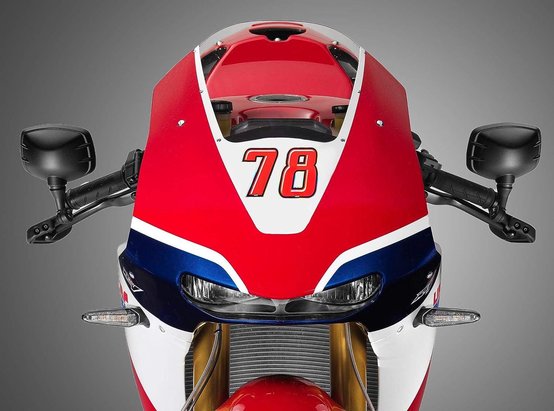 Quattroerre 13264 Numero Racing 4 Slim 10 X 6,5 cm Rosso