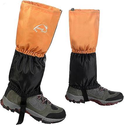 1 Pair Waterproof Outdoor Hiking Snow Legging Cover Gaiters Hunting Climbing