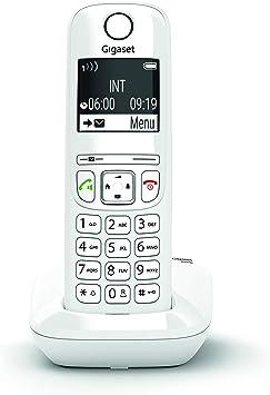 Gigaset AS690 - Teléfono inalámbrico, manos libres, pantall de gran contraste, agenda de 100 contactos, Color Blanco: Gigaset: Amazon.es: Electrónica