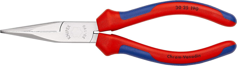KNIPEX 30 25 190 Langbeckzange verchromt mit Mehrkomponenten-H/üllen 190 mm