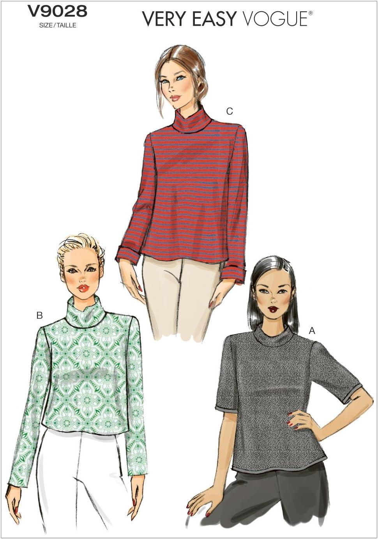 Multi-Colour Vogue Patterns V9006 B5 Sizes 8//10// 12//14// 16 Misses Top