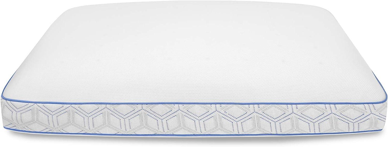 SensorPEDIC Cool Coat Gel-Infused Performance Memory Foam Pillow Oversized White