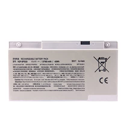 Batterymarket 3500mAh Li-Polymer Laptop Battery Pack VGP-BPS33 For Sony Vaio SVT-