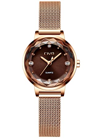 Relojes Mujer Reloj de Señoras Impermeable Acero Inoxidable ...
