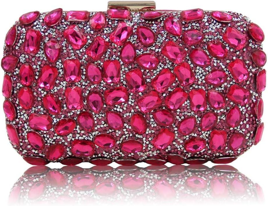 WXMDDN Hand Bag Banquet Bag//Shoulder Diagonal Bag//Shoulder Bag//Suitable for Party,Dance,Bride Wedding,Party,18135.5cm,Rose red