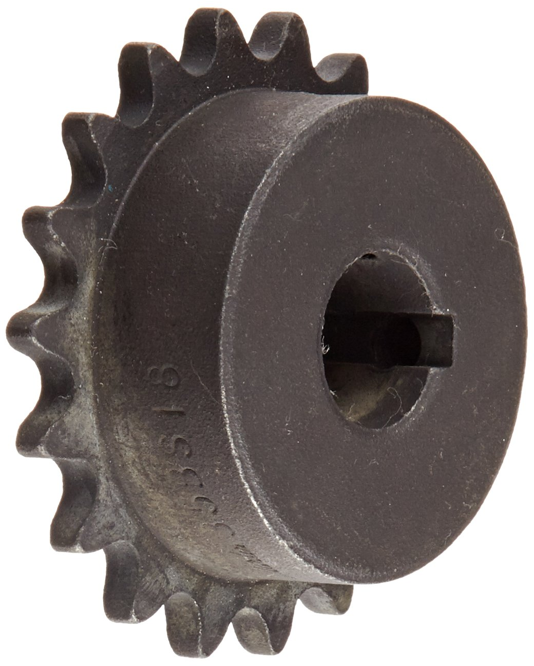 35 Chain Size Bored-to-Size Single Strand 1.7188 Hub Dia. 0.168 Width 18 Teeth 0.625 Bore Dia. Type B Hub 2.352 OD 0.375 Pitch Martin Roller Chain Sprocket