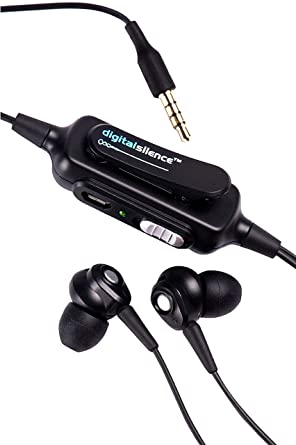 711e70a4041 Digital Silence DS-101A Stereo Analogue Ambient Noise Cancelling Headset  with Microphone - Black: Amazon.in: Electronics