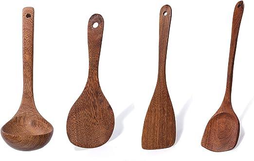 Juego de cucharas de madera para utensilios de cocina ...
