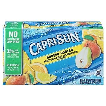 Amazon.com: Capri Sun Juice Drink Blend, Surfer Cooler, 10 Pouches: Prime Pantry
