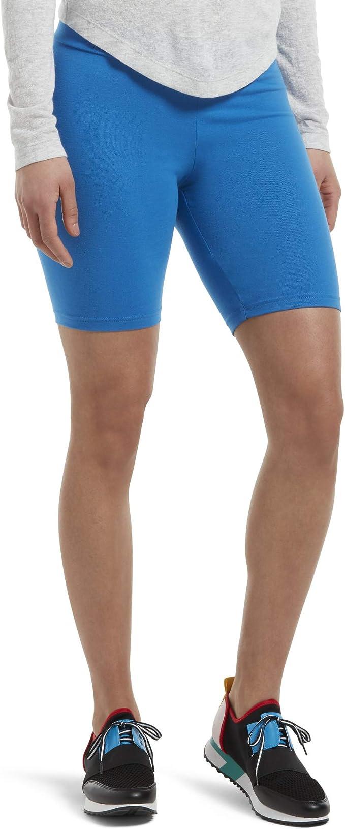 HUE Women's High Waist Blackout Cotton Bike Shorts, Assorted